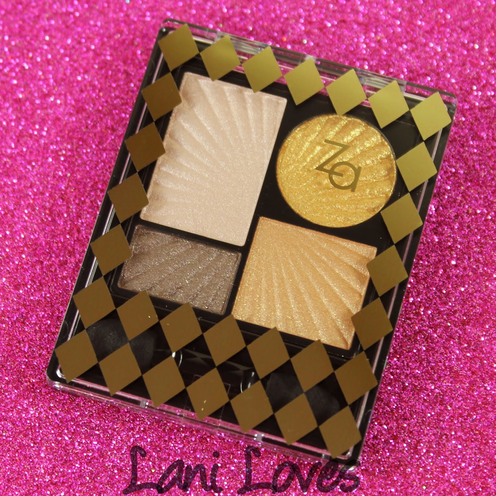 ZA Impact-Full Eyes Groovy Limited Edition Pure Gold Eyeshadow Palette Swatches & Review