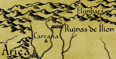 Fragmento mapa de los Confines