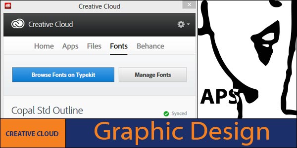 Creative Cloud application and sync fonts option