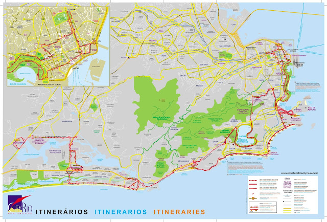 Mapa Turístico do Rio de Janeiro
