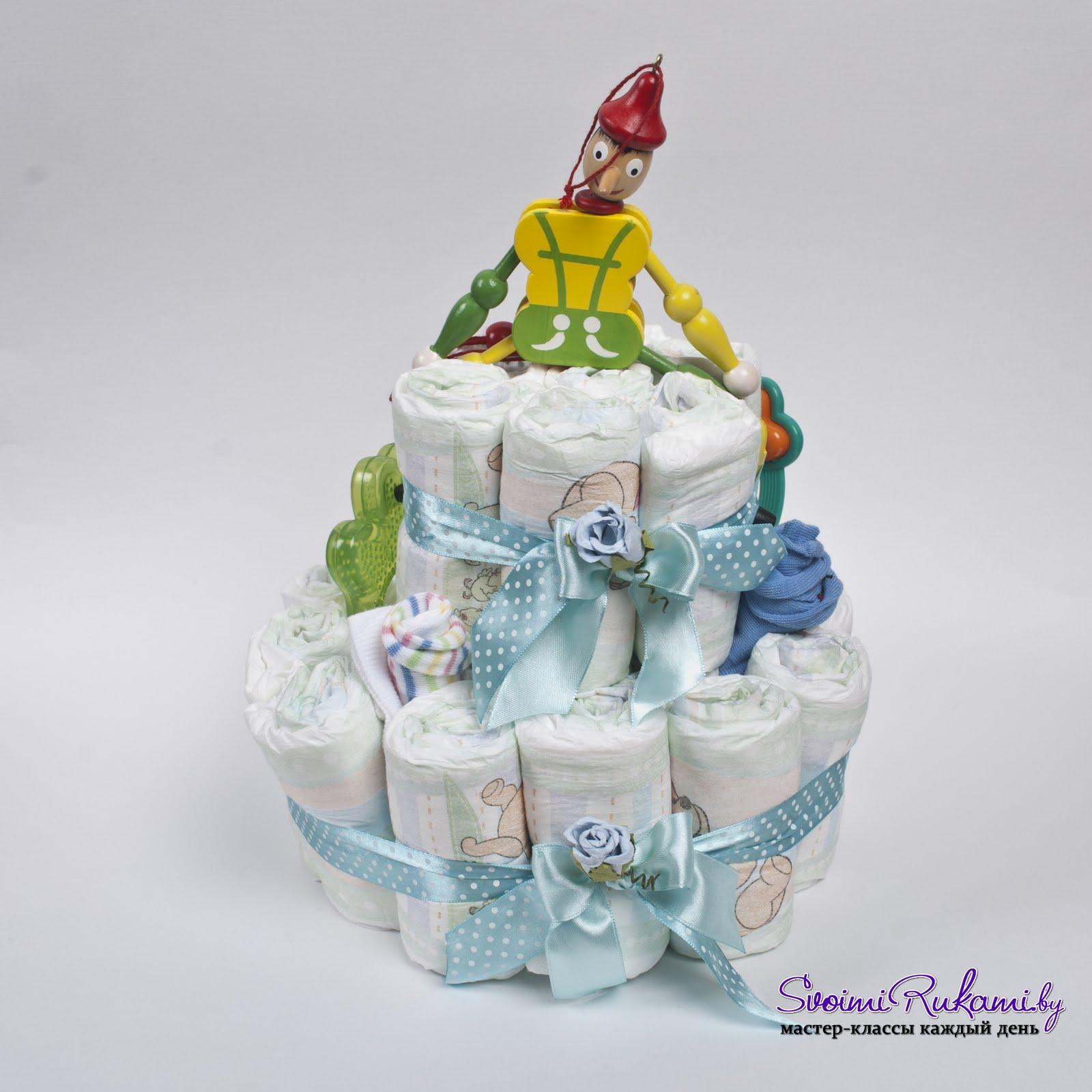 Торт из памперсов своими руками 10