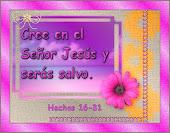 Cree en el Señor Jesús y seras salvo.