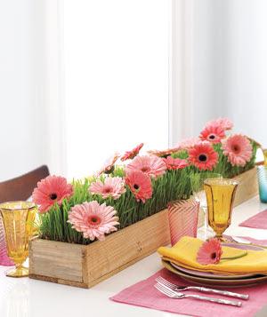 letnia dekoracja stołu DIY kwiaty na stole Eco manufaktura