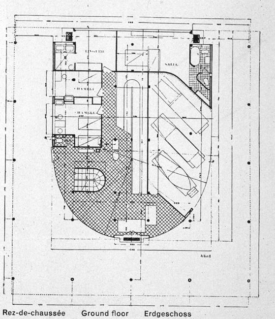 Gallery villa savoye plan dwg for Villa plan dwg