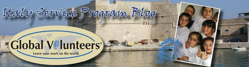 Italy Service Program Blog