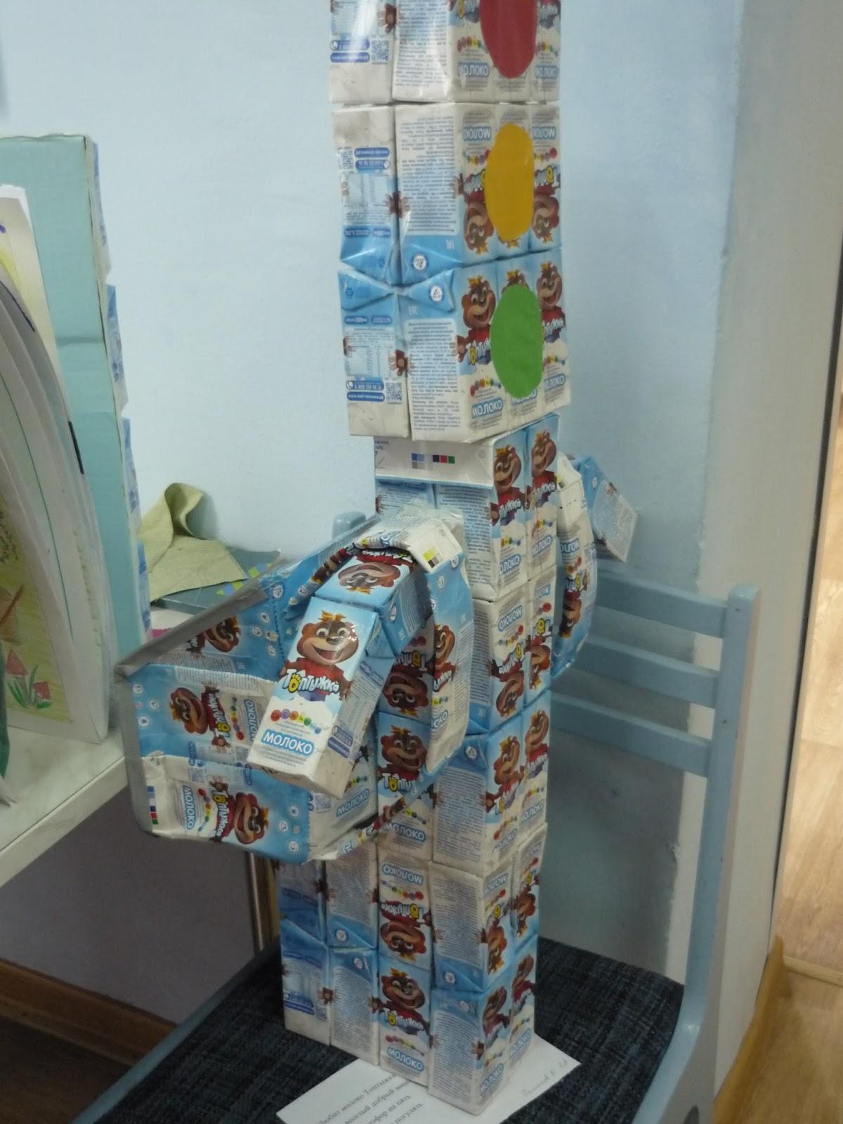 поделки из молочных коробок топтыжка картинки
