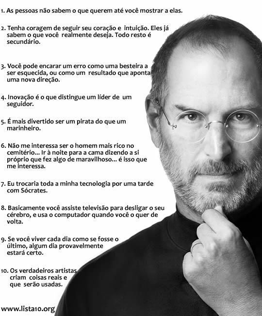 10 Frases Clássicas De Steve Jobs Master
