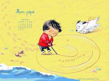 Fonds d'écran du mois de juillet 2013, avec et sans calendrier (éditions Des ronds dans l'O)