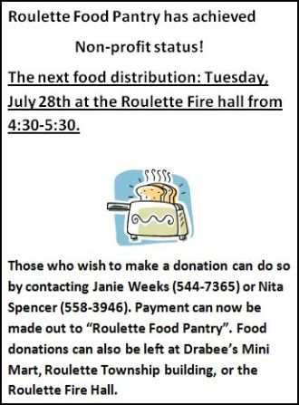 7-28 Roulette Food Pantry