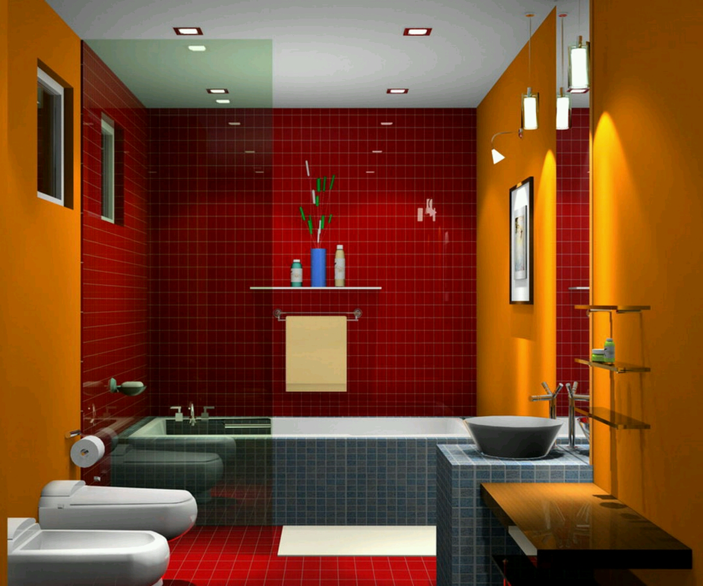 New home designs latest luxury bathrooms designs ideas for Latest bathroom designs