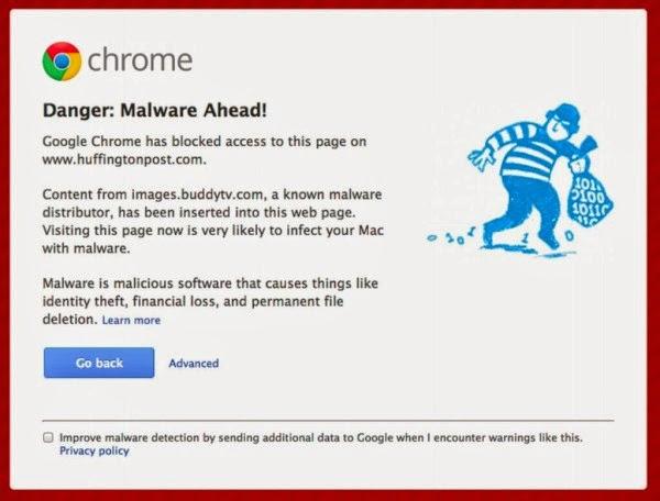 chorme bloqueará malwares embutidos