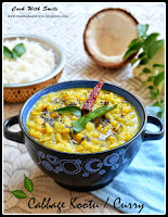 cabbage kootu recipe,cabbage curry