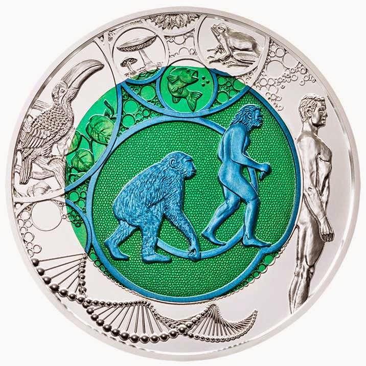 Austria 25 Euro Silver Niobium Coin 2014 Evolution