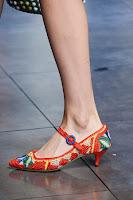 Плетени ниски обувки с ток Dolce & Gabbana
