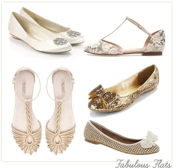 Non White Flat Wedding Shoes Wowing Us