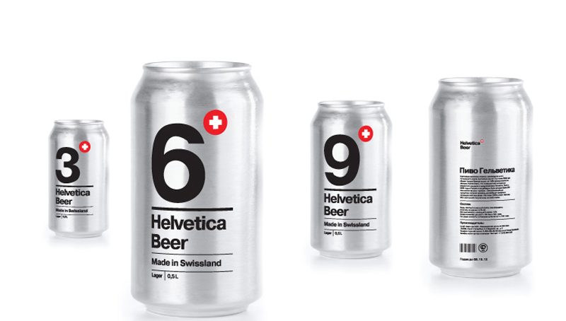 Packaging Beer Helvetica de Sasha Kischenko