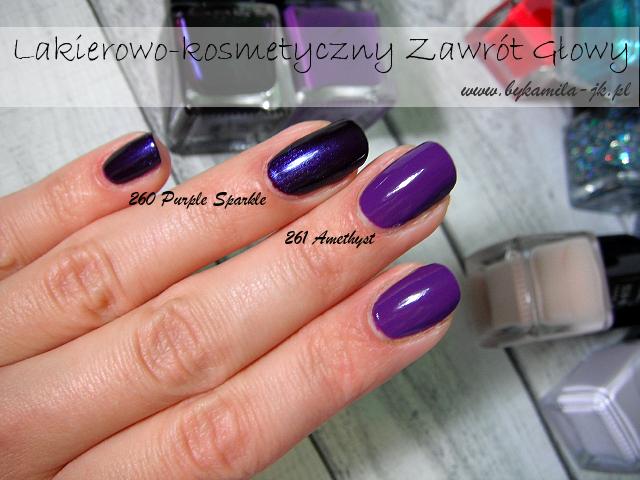 My Secret lakier Glam & Shine 260 Purple Sparkle 261 Amethyst Natura fioletowy błyszczący kremowy bez drobinek