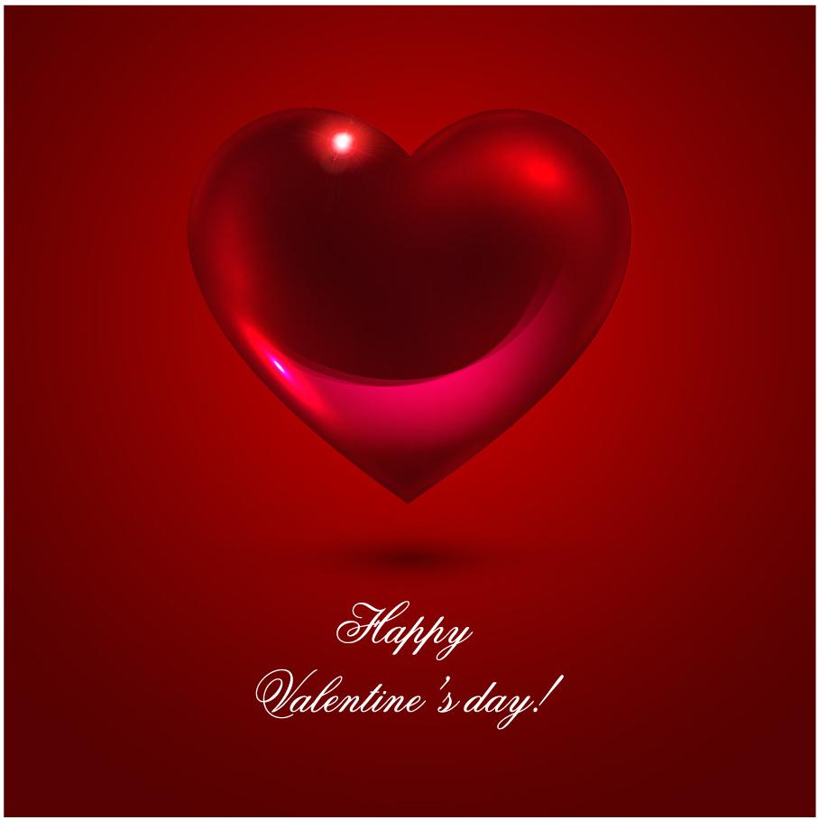 立体的なバレンタインデー ハートの背景 romantic heartshaped background イラスト素材