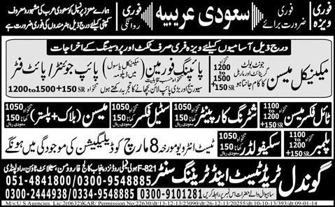 FIND JOBS IN PAKISTAN TIL FIXER MASON JOBS IN PAKISTAN LATEST JOBS IN PAKISTAN