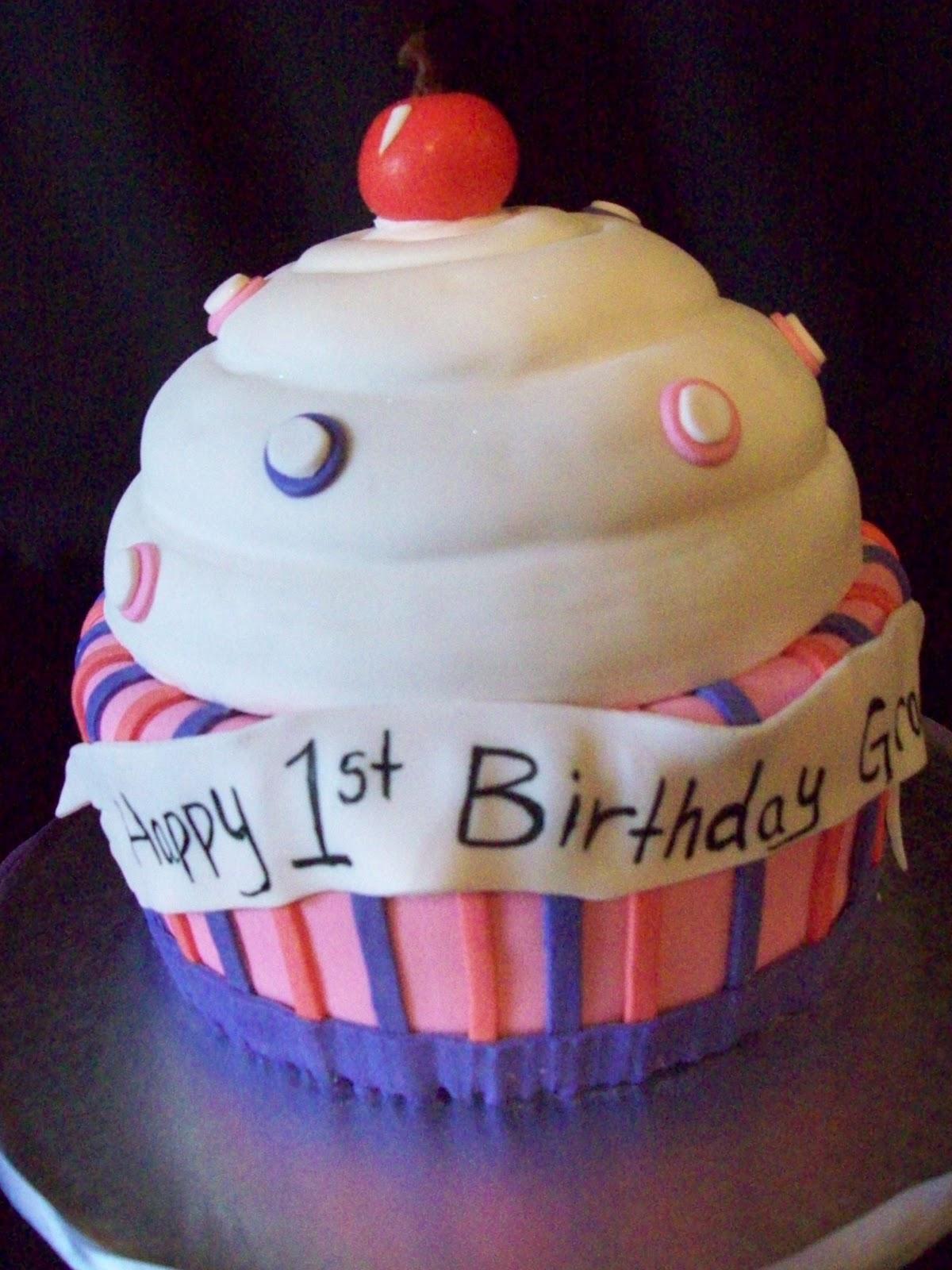 Brown Sugar Custom Cakes: First Birthday Cake