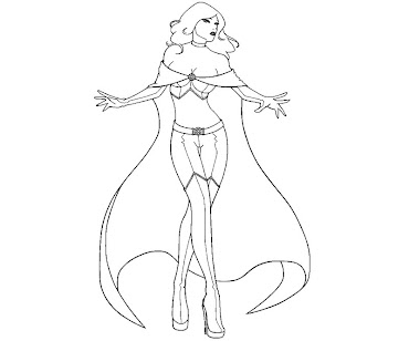 #3 Emma Frost Coloring Page