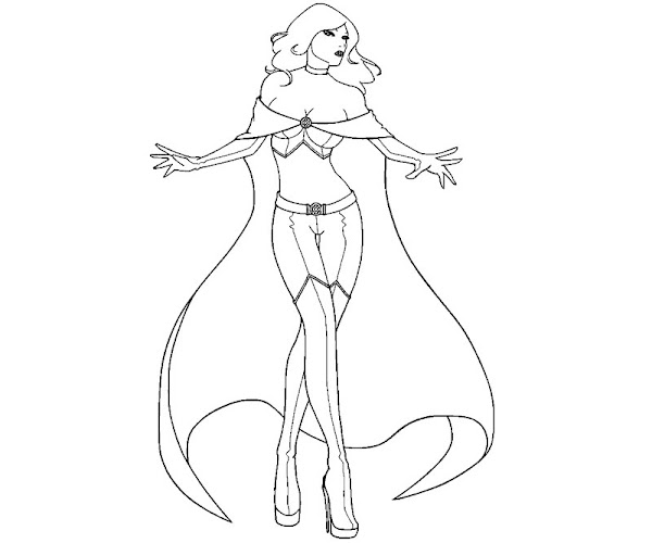 Emma Frost Coloring Pages