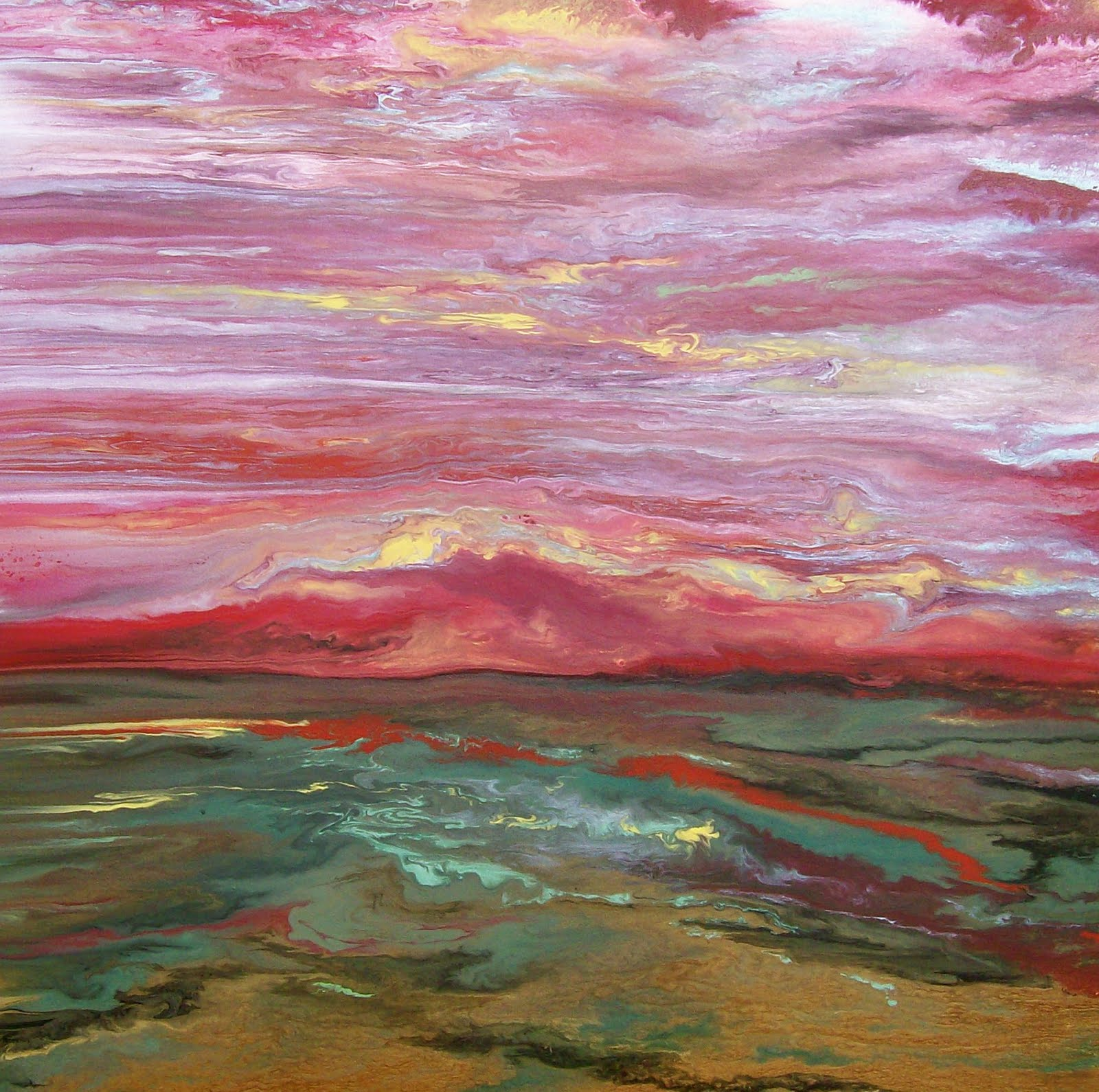 ... Contemporary Abstract Landscape, Sunset Paintings, Colorado Abstract