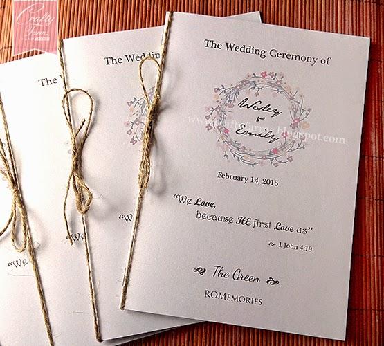 Garden Church Ceremony Program Bulletin