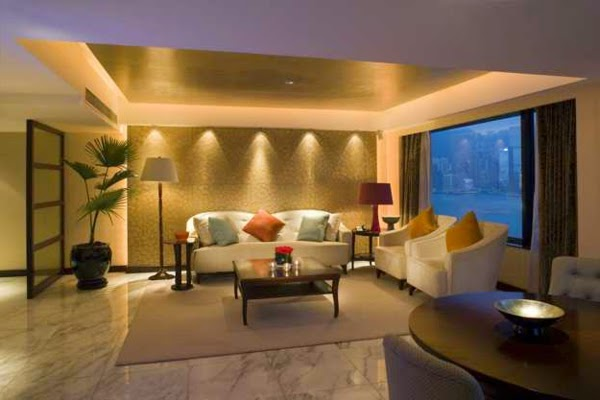 22 cool living room lighting ideas and ceiling lights for Living room wall lights