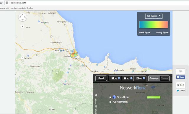 Data layanan Smartfren 4G LTE di Area Cirebon