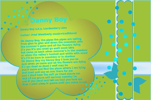 March 2016 –  Danny Boy