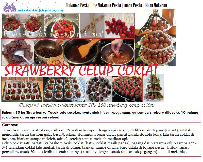 Aneka Masakan Indonesia | Indonesian Food: Strawberry Celup Coklat