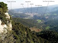 Vista d'Aiguafreda des del mirador de les Avellanedes