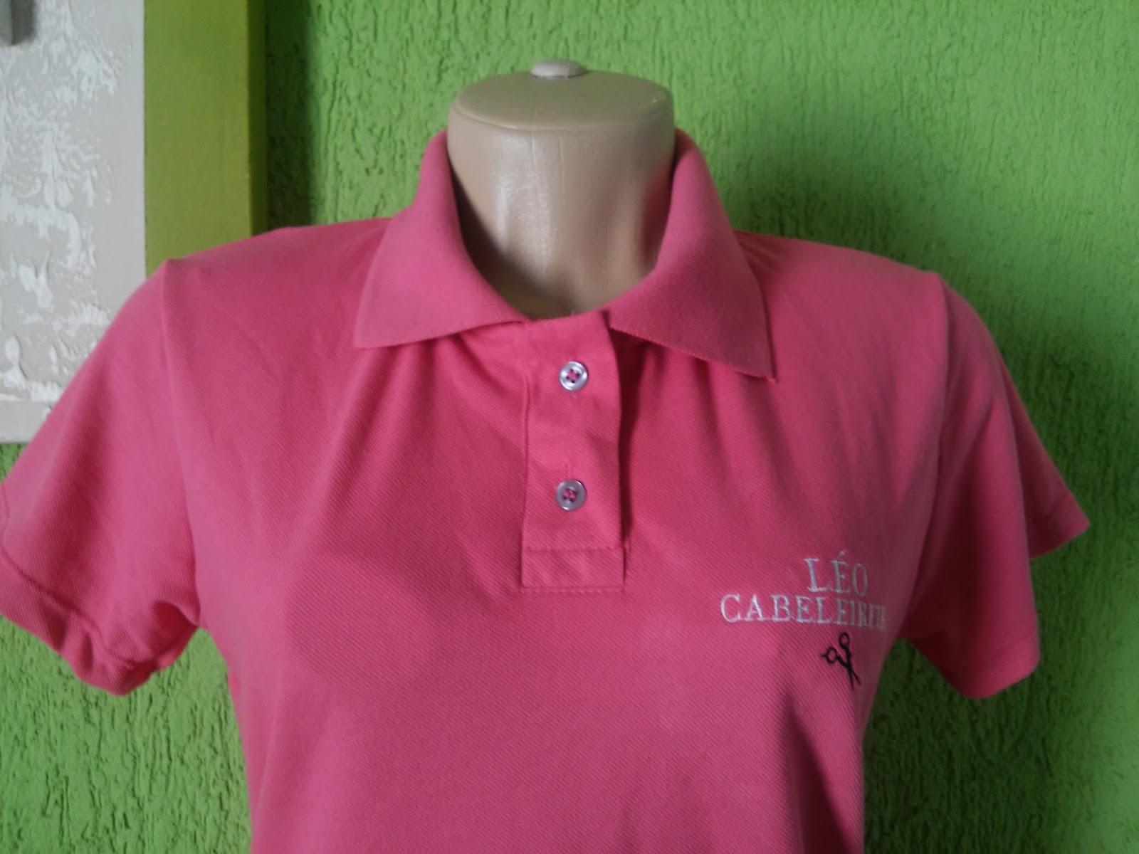 Camisa Polo Feminina Bordada Frente. 9b9e595708148