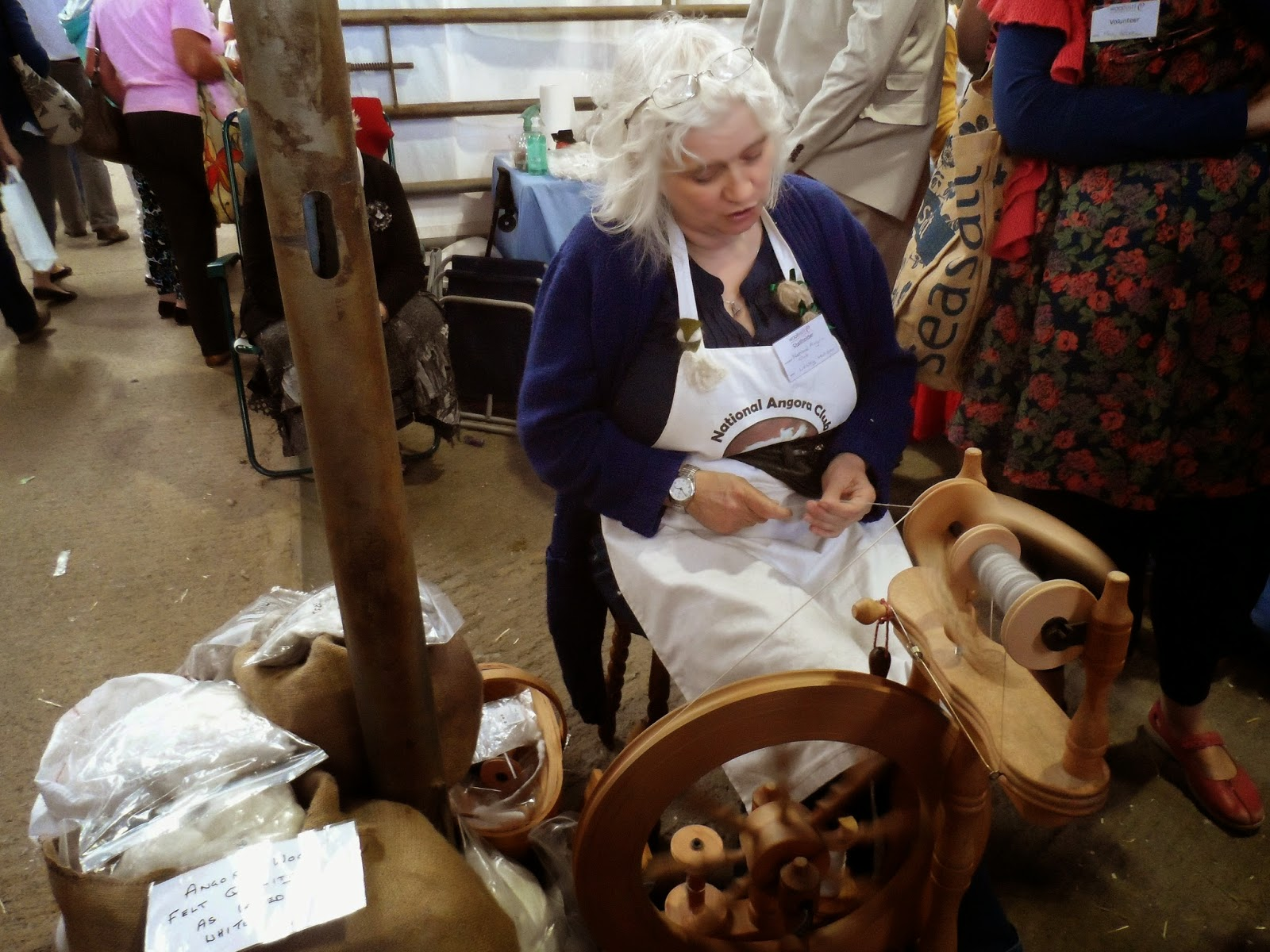Woolfest 2014 - Spinning demonstration.