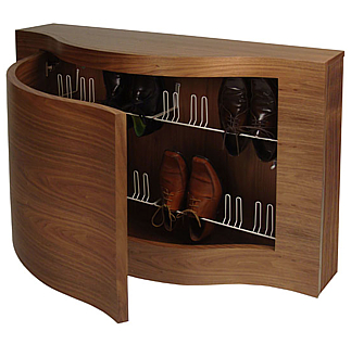 Shoe Storage Black Glass