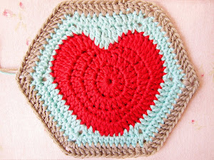 The Hearty Hexagon Crochet Motif Pattern