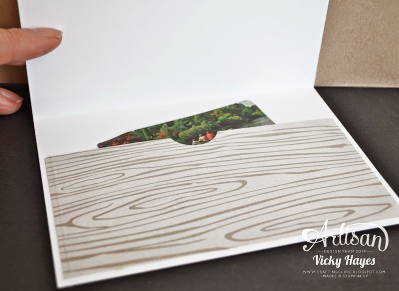 UK Stampin' Up demonstrator Vicky Hayes shows you how to make a money/gift card holder