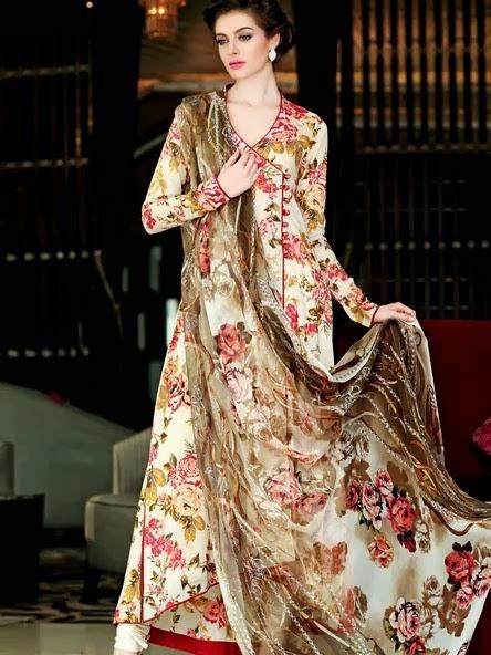 Gul Ahmed Chiffon Dresses 2014