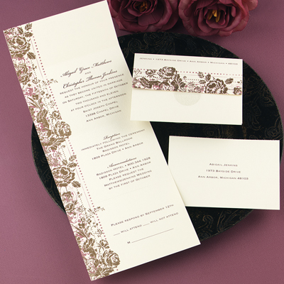 Elegant Wedding Invitations seal and send wedding invitations