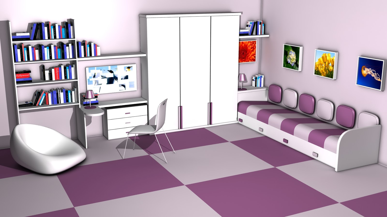 Sajid designer room interior design 3ds max 3d room maker