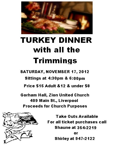 Queens county community 10 1 12 11 1 12 for Thanksgiving dinner with all the trimmings