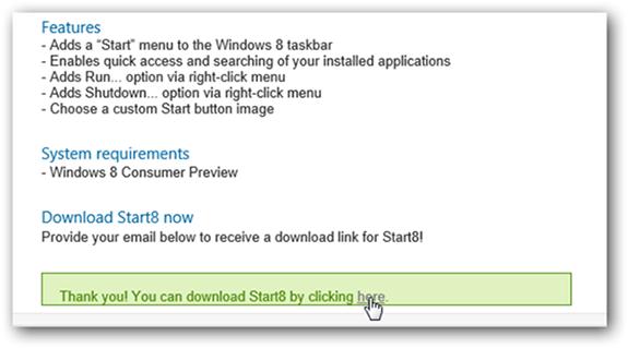 كيفية عرض قائمة Start بتصميم Metro لويندوز 8