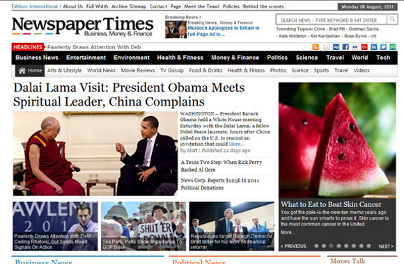 Newspaper Times Wordpress Template Blogger Themes Blogger