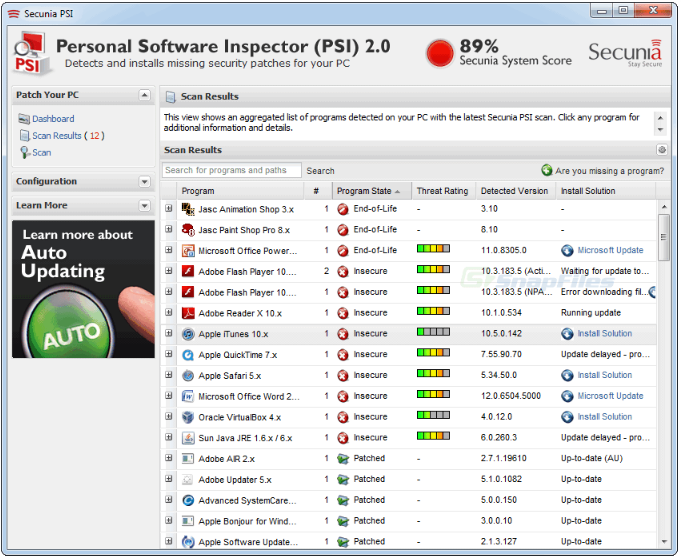 SECURE PERSONAL SOFTWARE INSPECTOR 2.0