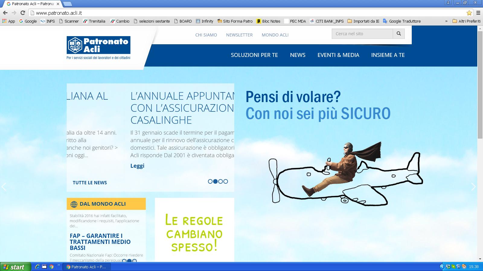 Nuovo sito web Patronato Acli