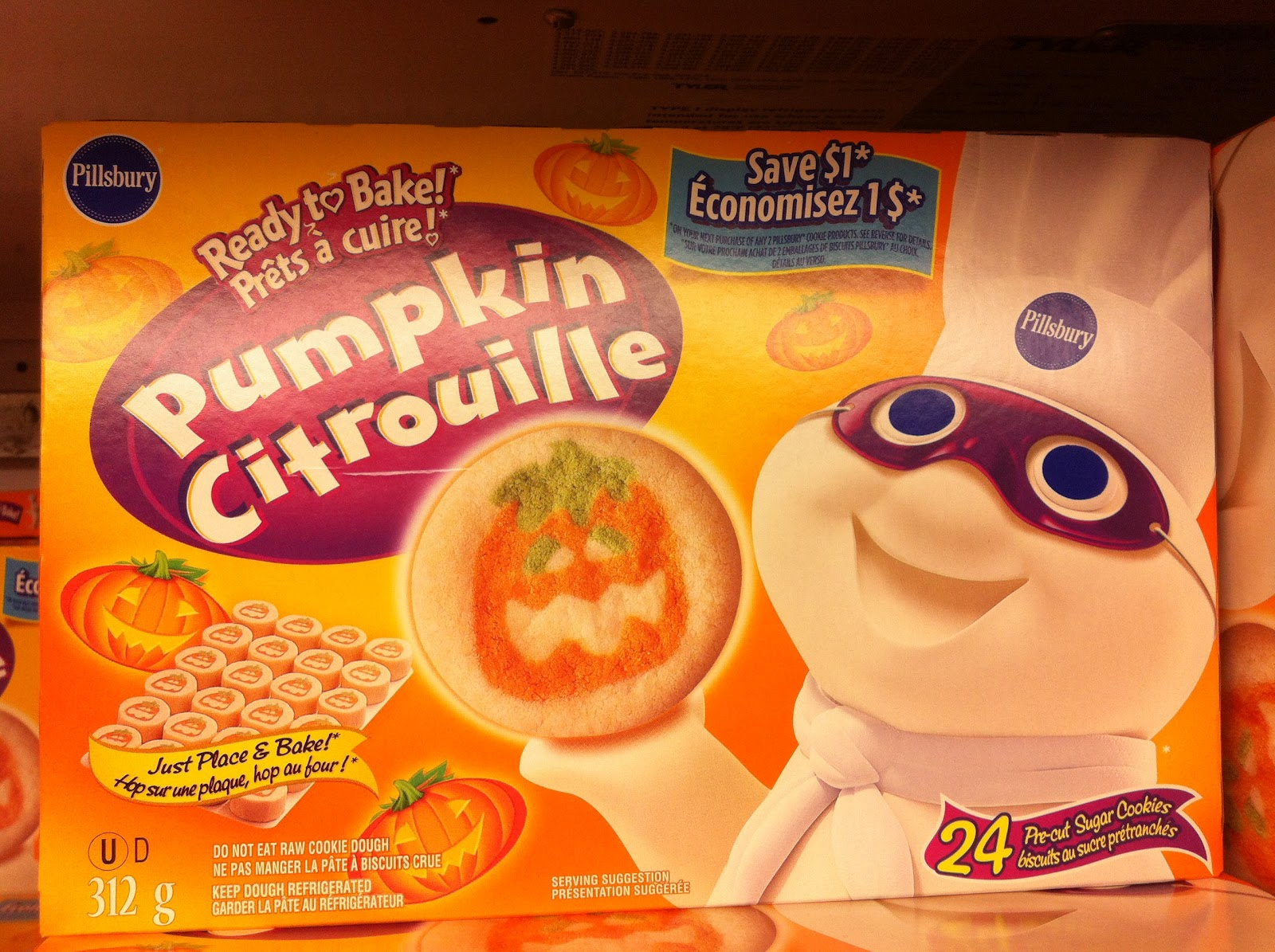 walking the candy aisle - Pillsbury Dough Boy Halloween Cookies