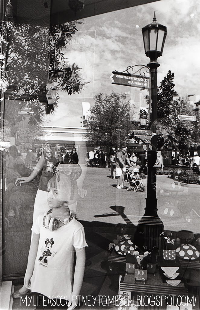 Black and White Photography Disneyland