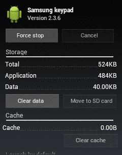 Memperbaiki keyboard android error