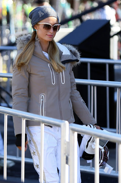 Actress, Singer, Model, @ Paris Hilton seen at Gorsuch Ski Clothing at Durant Ave in Aspen